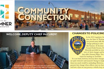 Screenshot of the top half of page one of the Fall Community Connection newsletter